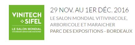 Salon Vinitech du 29 Novembre au 1er Décembre 2016